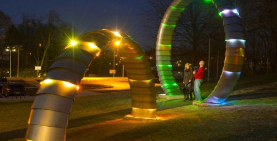 Revolutions of Brandon Park, Lancaster, PA (solar powered)