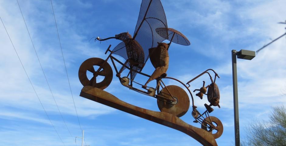 Batty Biker Family (detail), Tucson, AZ