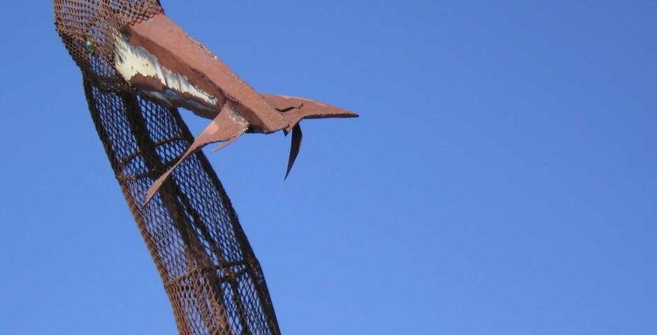 The Fisherman (detail), Chula Vista Bayside Park, Chula Vista, CA