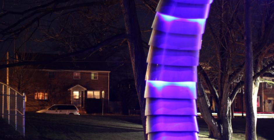 Revolutions of Brandon Park (idetail), Lancaster, PA (solar powered)